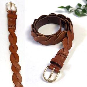 Banana Republic Leather Twisted Braided Belt